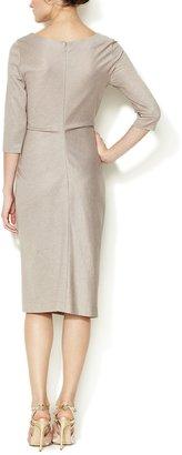 Carolina Herrera Jersey Ruched Button Dress