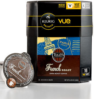 Keurig V Cup Portion Packs, 16 Count Tully's French Roast