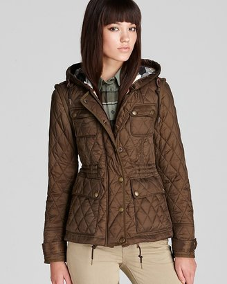 Burberry Aldershotz Hooded Quilted Jacket