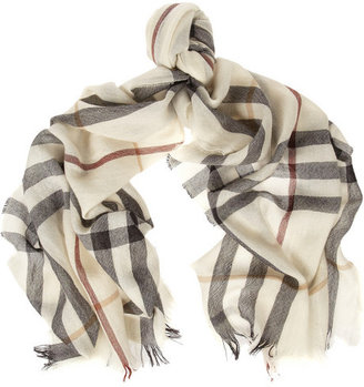 Burberry Shoes & Accessories Checked merino wool and cashmere-blend scarf