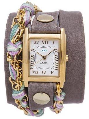 La Mer Cement Pastel Friendship Bracelet Wrap