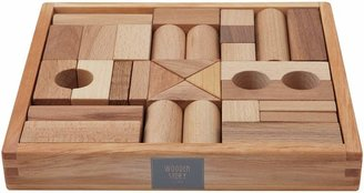 story. Wooden Natural Wooden Blocks, 30 Pieces