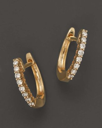 Bloomingdale's Diamond Huggie Hoop Earrings in 14K Yellow Gold, .15 ct. t.w.