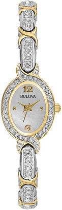 Bulova Womens Crystal Accent Bracelet Watch 98L005 $224.25 thestylecure.com