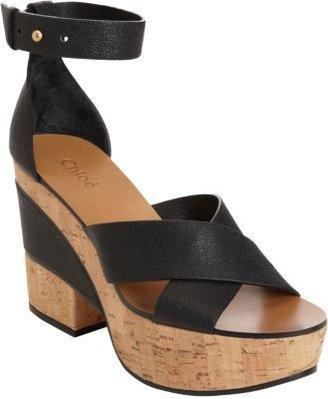 Chloé Alice Criss-Cross Platform Sandal