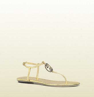 Gucci katlin jeweled interlocking G flat thong sandal