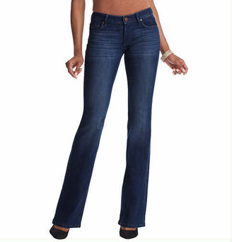 LOFT Tall Curvy Flare Leg Jeans in Winded Blue Wash