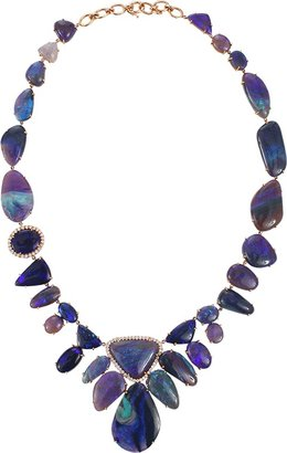 Irene Neuwirth JEWELRY Lightening Ridge Opal Necklace With Diamond Pave