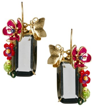 Les Nereides Drop Earrings With Flower Trail