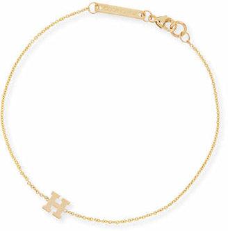 Chicco Zoe 14k Gold Block Initial Bracelet