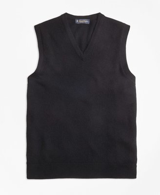 Brooks Brothers Cashmere Sweater Vest-Basic Colors