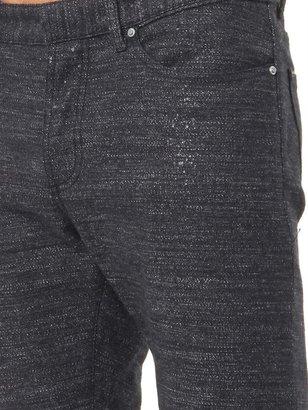 Balenciaga Tweed slim-leg denim jeans
