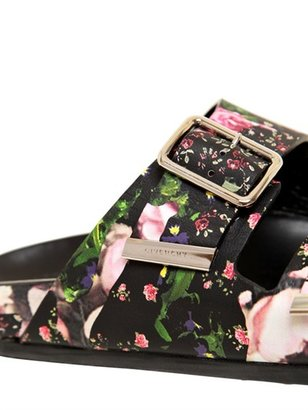 Givenchy Floral Nappa Leather Flats