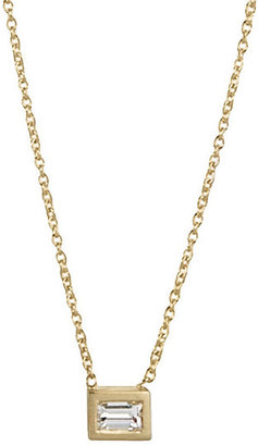 Margaret Elizabeth - Baguette Diamond Necklace