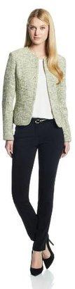 Kasper Women's Open Weave Tweed Cardigan Suit Jacket