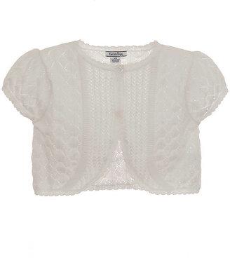 Hartstrings Girls 2-6x Cap-Sleeved Crochet Shrug