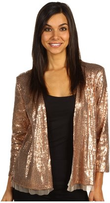 Michael Stars Allover Sequin Cardigan (Bronze) - Apparel