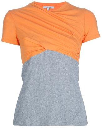 Carven bi-colour twisted t-shirt
