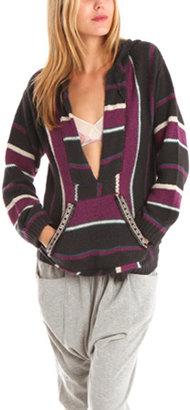 Charlotte Ronson Beaded Pocket Pullover in Purple/Multi