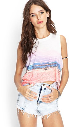 Forever 21 sunset muscle tee