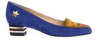 Charlotte Olympia Mascot suede shoes