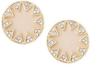 House Of Harlow Sunburst Button Stud Earrings, Cream