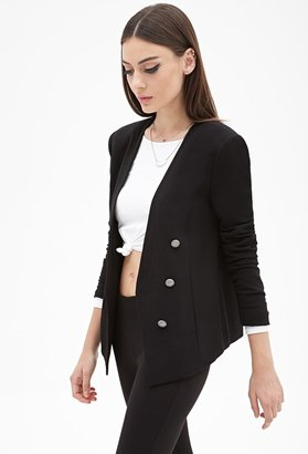 FOREVER 21 Collarless Open-Front Blazer $37.80 thestylecure.com