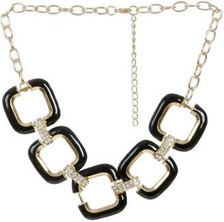 Arden B Enamel Link Short Necklace
