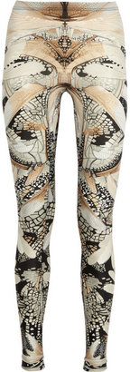Alexander McQueen Wing-print stretch leggings