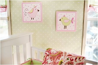 My Baby Sam Paisley 2 pc Wooden Wall Art - Pink/ Lime