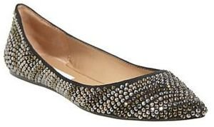 Steve Madden Vegass-R Pointed-Toe Flats with Rhinestone Accents