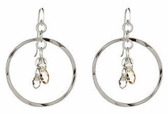 Rebecca Norman Circle Crystal Earrings