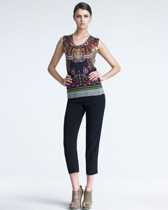 Etro Slim Capri Pants