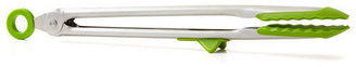 S/2 Silicone Tongs, Green