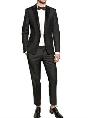 DSquared Silk Wool And Satin Tuxedo Suit
