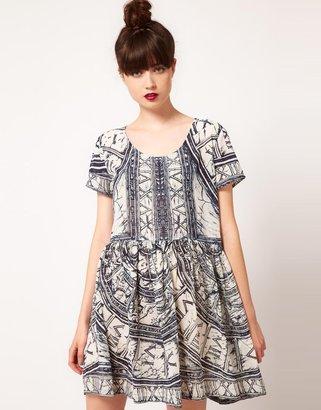 Evil Twin 'Zodiac Rising' Print Dress