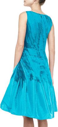 Oscar de la Renta A-Line Cocktail Dress with Chiffon Ribbons