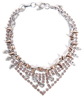 Joomi Lim Crystal and spike necklace