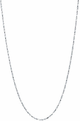 SILVER REFLECTIONS 16-24 Silver-Plated Thin Twist Boston Chain
