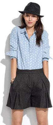 See by Chloe Pleated Tweed Shorts