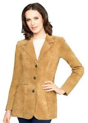 Denim & Co. Washable Suede Button Front Jacket with Pockets