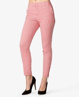 Forever 21 Zippered Gingham Pants