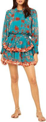 MISA Camila Floral Tiered Mini Dress