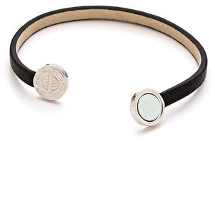 Marc by Marc Jacobs Skinny Engraved Turnlock Leather Bracelet