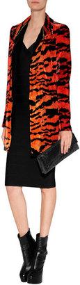 Just Cavalli Velvet Tiger Print Coat