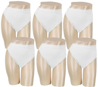 Breezies S/6 Cotton High-Cut Brief Panties w/UltimAir