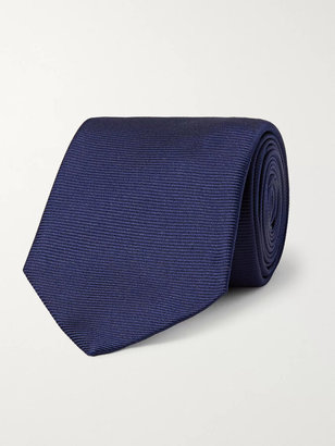Turnbull & Asser 8cm Ribbed Silk Tie