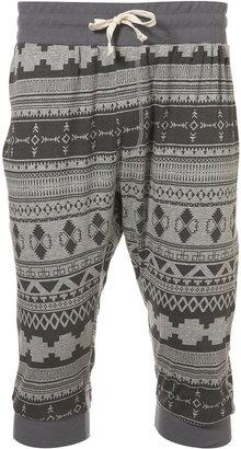 Topman Grey Aztec Pattern Shorts