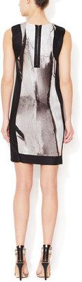 Helmut Lang Flesh Jersey Shift Dress