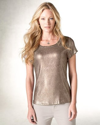 Coldwater Creek Allover sequin tee